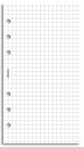 Filofax náplň do diáře formát A6 papír čtverečkovaný bílý
