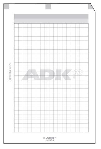 Náplň do diáře ADK A5 blok s děrováním  formulář