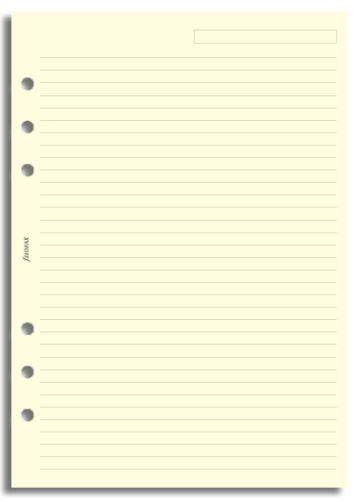Filofax papír linkovaný krémový A5
