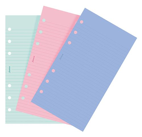 Filofax papír linkovaný barevný A6