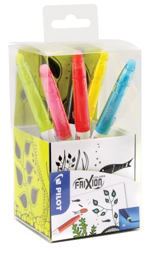Pilot FriXion Colors gumovací fixy 6ks + stojánek