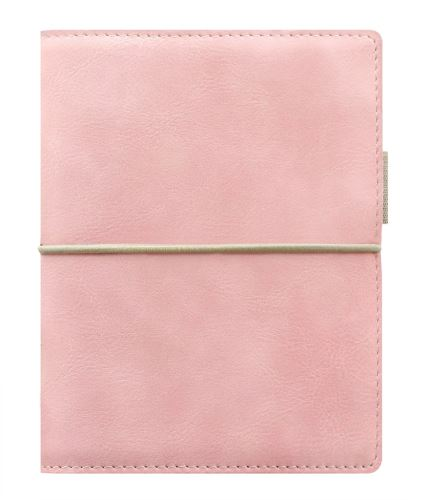 Filofax Domino Soft A7 Pocket pastelově růžový diář kapesní