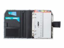 ADK diář SENZA6 A6 bíločerný plánovací systém