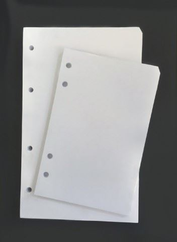 Náplň do diáře ADK A6 bílé listy