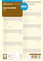 Filofax plánovací kalendář A5 2021 vertikální krémový