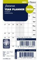 Filofax plánovací kalendář Mini 2020 horizontální anglický