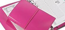 Filofax Domino Patent růžový diář
