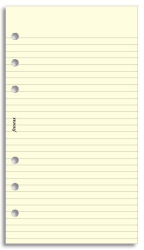 Filofax papír linkovaný krémový A6