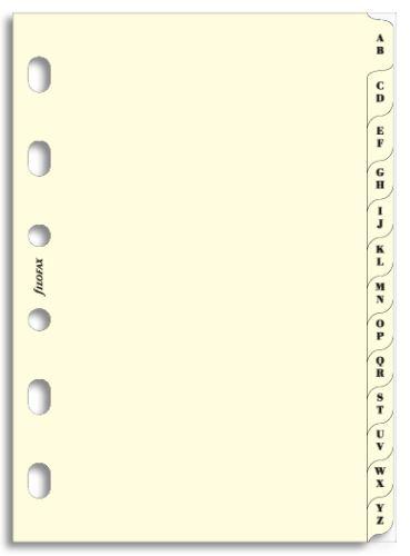 Filofax náplň do diáře formát A7 krajové výřezy A-Z