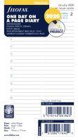 Filofax kalendář A6 2020 den na jednu stranu 5 jazyků