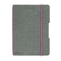 Herlitz sešit flex A4 40 listů čtverečkovaný plátno růžová gumička