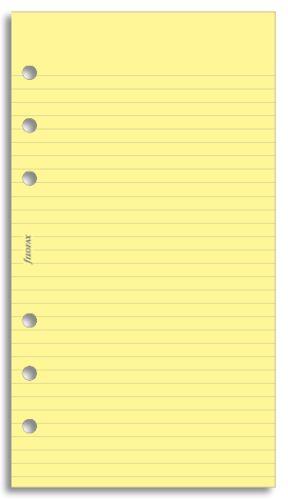 Filofax papír linkovaný žlutý A6