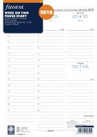 Filofax kalendář A4 2018 týden na dvě strany sloupce 5 jazyků
