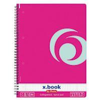 Herlitz x.book blok College kroužkový A4 čtverečkovaný růžový