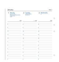 Filofax kalendář A5 2021 týden na dvě strany anglický sloupce