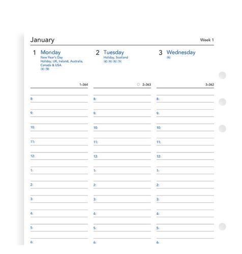Filofax A5 kalendář A5 2021 anglický