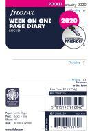 Filofax kalendář A7 2020 týden na jednu stranu anglický