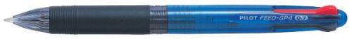 Pilot Feed 4 čtyřbarevné kuličkové pero modré