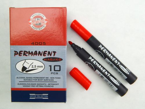 Koh-I-Noor značkovač permanentní červený kulatý