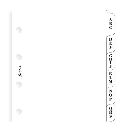 filofax krajové výřezy mini