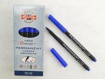 Koh-I-Noor popisovač permanentní modrý 4202 kulatý