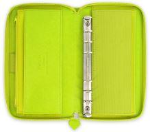 Diář Filofax Saffiano Compact Zip limetkový organizér