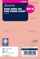 Filofax kalendář A7 2018 týden na dvě strany anglický růžový