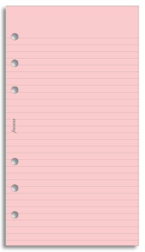 Filofax náplň do diáře formát A6 papír linkovaný růžový