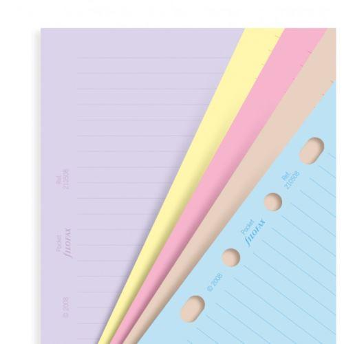 Filofax papíry linkované barevné A5