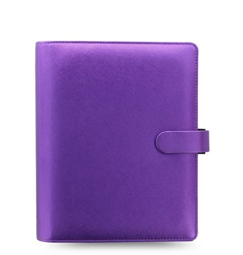 Filofax Saffiano A5 Metallic fialový diář
