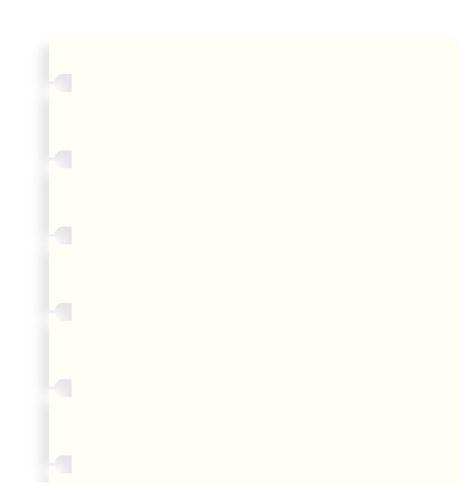 Filofax Notebook A5 náplň čisté papíry