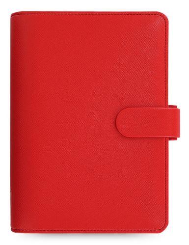 Diář Filofax Saffiano A6 červený