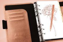 Filofax Saffiano A5 Rose Gold diář