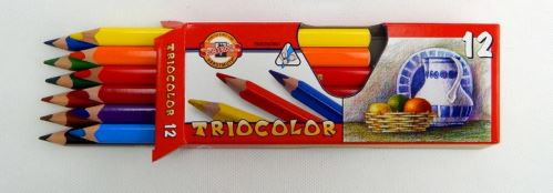 Koh-I-Noor pastelky trojhranné 12ks