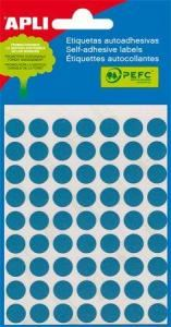 APLI etikety kolečka 10mm modré 315ks/bal