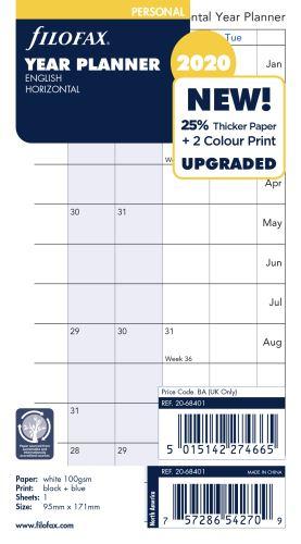 Filofax plánovací kalendář A6 2020 horizontální anglický
