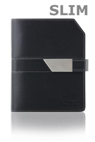 ADK diář NEWELEGANT SLIM A6 černý plánovací systém
