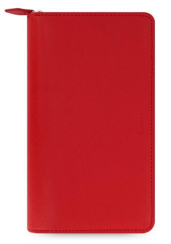 Diář Filofax Saffiano Compact Zip červený