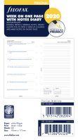 Filofax kalendář A6 2020 týden na 1 stranu + poznámky 5 jazyků