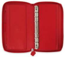 Diář Filofax Saffiano Compact Zip červený organizér