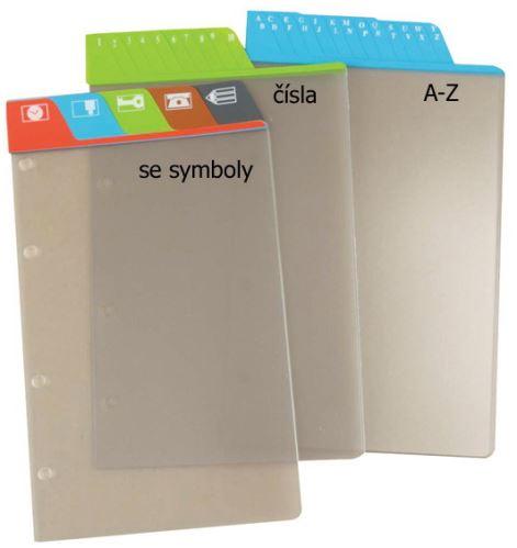 Náplň do diáře ADK A7 dělící listy se symboly formulář