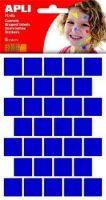 APLI etikety čtverce 20x20mm modré 192ks/bal