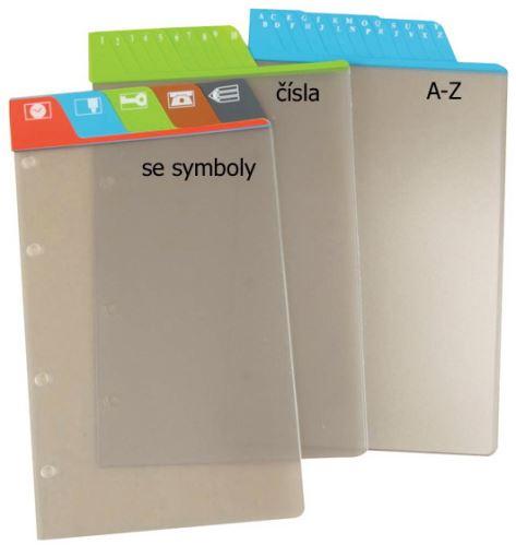 Náplň do diáře ADK A6 dělící listy se symboly formulář