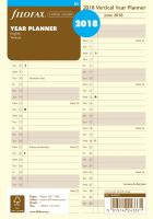 Filofax plánovací kalendář A5 2019 vertikální krémový