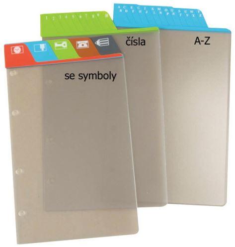 Náplň do diáře ADK A6 dělící listy A - Z hnědé formulář