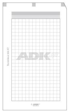 Náplň do diáře ADK A7 blok s děrováním  formulář