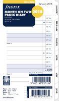 Filofax kalendář A6 2018 měsíc na dvě strany anglický