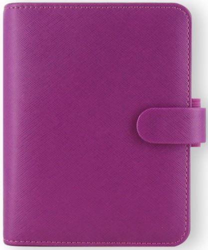 Filofax Saffiano A7 Pocket malinový diář kapesní