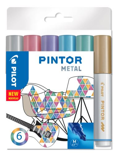 Pilot Pintor Medium sada Metal