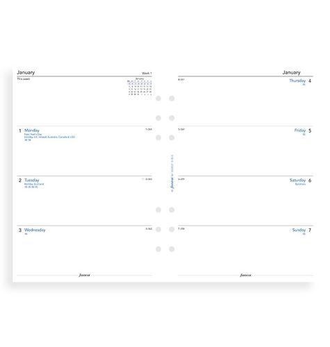 Filofax kalendář A5 2021 týden na dvě strany anglický